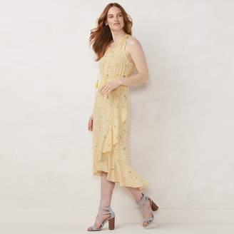 Lauren Conrad Women's Halter Ruffle Wrap Dress