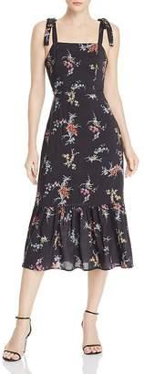 Paige Tolucah Orchid-Print Dress in Black