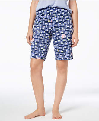 Hue Printed Bermuda Pajama Shorts
