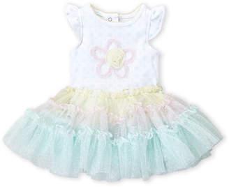 Mini Muffin Newborn Girls) Mint Floral Tutu Bodysuit