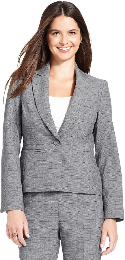 Le Suit Jacket, Glen Plaid Blazer