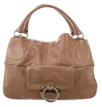 Salvatore Ferragamo Large Leather Tote Brown Large Leather Tote