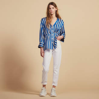 Sandro Striped Shirt With Press Studs