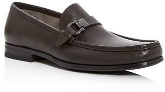 Salvatore Ferragamo Men's Adammoon Leather Moc-Toe Loafers