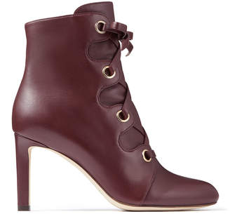 Jimmy Choo BLAYRE 85 Bordeaux Nappa Leather Boots