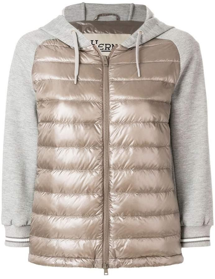 padded panelled bomber jacket