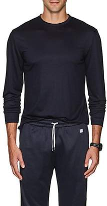 Barneys New York Men's Wool Long-Sleeve T-Shirt - Navy