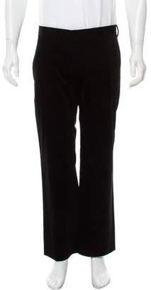 CNC Costume National Velvet Flat Front Pants