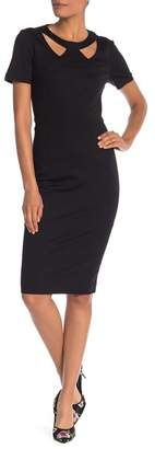 Trina Turk Caladium Cutout Sheath Midi Dress