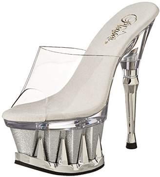 Pleaser USA Women's Spiky-601MG/C/SG Platform Sandal