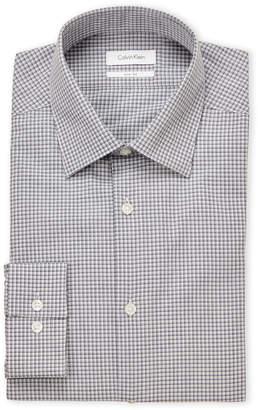 Calvin Klein Riviera Blue Check Slim Fit Dress Shirt