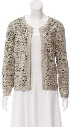 Adam Crochet Open Front Jacket