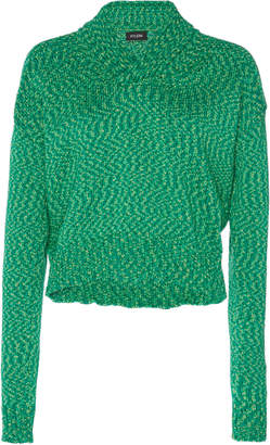 Atlein Cropped Double Knitted Cotton Sweater