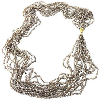 One Kings Lane Vintage Multi-Strand Freshwater Pearl Necklace - Owl's Roost Antiques