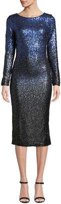 Dress the Population Emery Sequin Cocktail Midi Dress