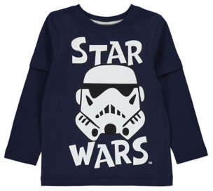 George Star Wars Stormtrooper Navy Long Sleeve Top