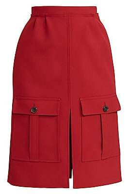 Chloé Women's Utilitarian Pocket A-Line Skirt