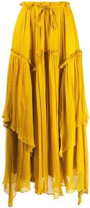 Twin-Set flounce maxi skirt