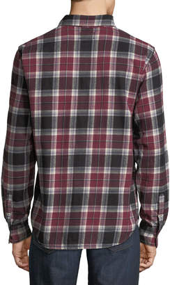 Joe's Jeans Plaid Flannel Button-Front Shirt