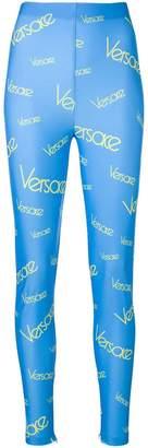 Versace vintage logo print leggings