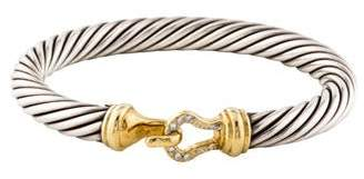 David Yurman Diamond Cable Classics Buckle Bracelet