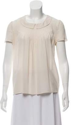 Comptoir des Cotonniers Short Sleeve Silk Top