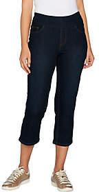 Denim & Co. Perfect Denim Smooth Waist Slim LegCrop Jeans