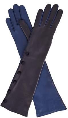 Gizelle Renee - Izumi Long Blue Leather Glove