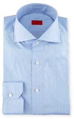 Isaia Glen Plaid Twill Dress Shirt