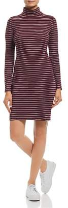 Three Dots Autumn Stripe Turtleneck Dress