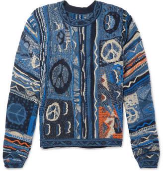 KAPITAL Cotton-Blend Jacquard Sweater