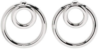 Alexander Wang Silver Double O-Ring Earrings
