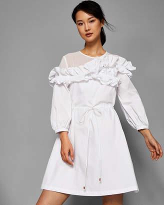 5b7c4b714 Ted Baker TIAHA Ruffle long sleeve cotton dress