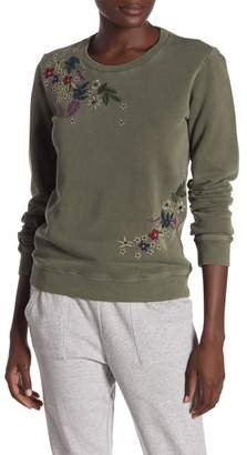 Lucky Brand Floral Embroidered Sweatshirt