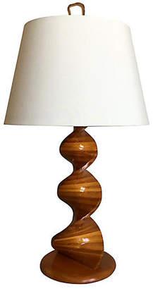 One Kings Lane Vintage Danish Teak Lamp w/Shade - C the Light Interiors
