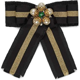 Gucci Web grosgrain bow brooch