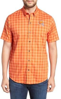 Cutter & Buck Cleveland Browns - Fremont Regular Fit Check Sport Shirt