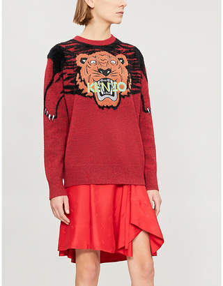 Kenzo Claw tiger knitted jumper