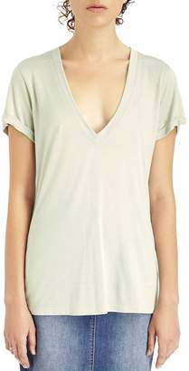 Sole Society Beechwood Deep V Neck Tee