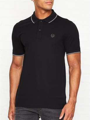 Belstaff Stewarton Tipped Collar Pique Polo Shirt