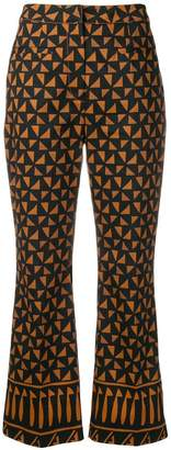 Alberta Ferretti multi-pattern trousers