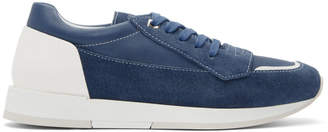 Jimmy Choo Blue Suede Jett Sneakers