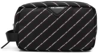 Karl Lagerfeld Paris K/Stripe logo wash bag