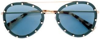 Valentino Eyewear embellished aviator sunglasses