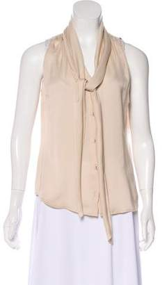 Tomas Maier Sleeveless Button-Up Top