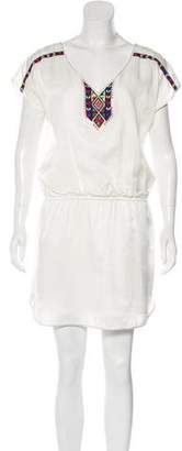Tibi Embroidered Mini Dress
