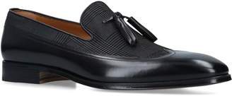 Stemar Leather Check Galas Tassel Loafers