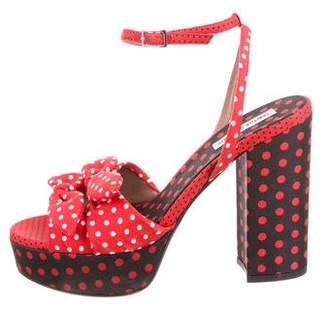 Tabitha Simmons Polka Dot Platform Sandals