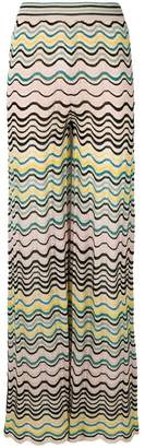 M Missoni wave knit flared trousers