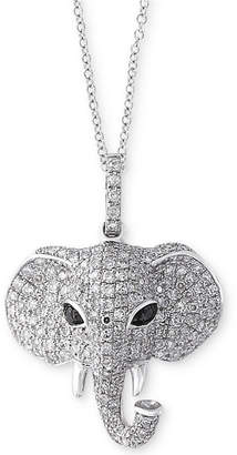 Effy Caviar by Diamond Elephant Pendant Necklace (3/4 ct. t.w.) in 14k White Gold